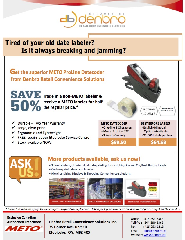 Save 50% Trade in a non-METO labeler & receive a METO labeler for half the regular price